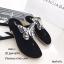 รองเท้าแตะผีเสื้อแต่งเพชร (สีดำ) thumbnail 1