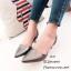 รองเท้าหัวแหลมรัดส้น Style Zara (สีเทา) thumbnail 2