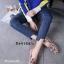 รองเท้าคัทชูทรงสวมปักลายผึ้ง Style Gucci (สีครีม) thumbnail 12