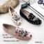 รองเท้าคัทชูทรงสวมปักลายผึ้ง Style Gucci (สีครีม) thumbnail 17