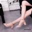 รองเท้าคัทชูส้นตันหนังเงาสไตล์ Valentino (สีดำ) thumbnail 4