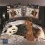 (Pre-order) ชุดผ้าปูที่นอน ปลอกหมอน ปลอกผ้าห่ม ผ้าคลุมเตียง ผ้าฝ้ายพิมพ์ 3D รูปหมีแพนด้าน thumbnail 1