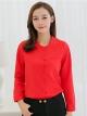 เสื้อทำงานผู้หญิงสีแดง แขนยาว 4-151RX-แดง