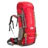 DF02 กระเป๋าเดินทาง AONIJIE สีแดง ขนาดจุสัมภาระ 70+5 ลิตร (เสริมโครง)