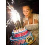 2 แถม 1, 3 แถม 2 ถึง 31/12/60 | ไฟเย็นปักเค้ก ไฟเย็นแชมเปญ พลุเทียนวันเกิด (Sparkling Candle/Birthday Candle/Party Candle) 7 นิ้ว 45 วินาที
