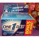 วิตามินรวม One A day Men's Multivitamin Bonus Pack120เม็ด วิตามินวันละเม็ดสำหรับผู้ชาย