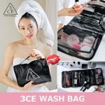 3CE Wash Bag กระเป๋าเครื่องสำอางที่ไม่ได้มีดีแค่ความเก๋ แต่จุมาก ๆ แบ่งช่องได้อย่างลงตัว มีช่องสำหรับใส่แปรงด้วย เหมาะมาก ๆ สำหรับคนที่เดินทางบ่อยค่ะ