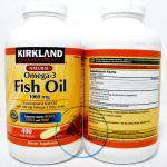 (ขายส่ง 890.-) Kirkland Fish Oil 1000 mg Natural Omega-3 400 Softgels บำรุงหัวใจ เพิ่มการไหลเวียนของระบบเลือด ช่วยให้ผิวหน้าเปล่งปลั่งยิ่งขึ้น