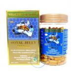 วิตามินพี่โดม Wealthy Health Royal Jelly 1000 mg 6% 10 HDA input 365 เม็ด นมผึ้งจากออสเตรเลีย คุณภาพอันดับหนึ่ง ปริมาณนมผึ้งสูงค่ะ