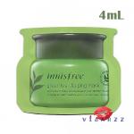 (ขายส่ง 8-) Innisfree The Green Tea Sleeping Mask 4mL สลิปปิ้งมาส์กก่อนนอน บำรุงผิวสารสกัดจากใบชาเขียวสดและเมล็ดชาเขียวที่เก็บเกี่ยวบนเกาะเชจู