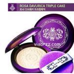 (# 23) Lotree Rosa Davurica Triple Cake SPF32 PA++ # 23 สำหรับผิวสองสีแป้งพัฟผสมรองพื้นเนื้อบางเบามีไฮไลท์ในตัว ช่วยเพิ่มมิติให้ใบหน้าและควบคุมความมันค