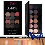 Sleek i-Divine Eyeshadow Palette # Oh So Special อายแชโดว์สีสดใสกำลังดี มิกซ์รวมไว้ครบสีทั้งอ่อนเข้ม สามารถใช้ได้ทุกวันตามแต่ต้องการ