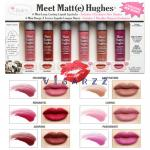 (Volume 3) The Balm Meet Matte Hughes 6 Mini Long Lasting Liquid Lipstick 1.2mL x 6 แท่ง ลิควิดลิปสติกเนื้อแมต เม็ดสีแน่นติดทนนาน เพื่อความมั่นใจได้ยาวนานตลอดทั้งวันโดยไม่ทำให้รู้สึกหนักริมฝีปาก
