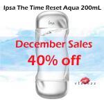 (ลดพิเศษ 40%) Ipsa The Time Reset Aqua 200mL โลชั่นที่ช่วยเติมความชุ่มชื้นให้กับผิว ผิวแลดูเอิบอิ่มยาวนาน ส่วนผสมที่ช่วยป้องการการเกิดอาการแพ้ อ่อนโยน ปราศจากแอลกอฮอล์