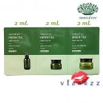 (ขายส่ง 25-) Innisfree Green Tea Night-Care Kit 2mLx3 = 6mL ชุดเทสเตอร์กรีนที รวมตัวเด็ดบำรุงผิวหน้าทั้งซีรั่ม ครีม และสลิปปิ้งมาส์กชนิดละ 2mL ไว้ให้ผิวฟูเด้ง อิ่มน้ำ