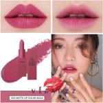 3CE New Matte Lip Color # 224 Delicate ลิปสติกเนื้อแมทท์ สีแน่น ติดทนนาน