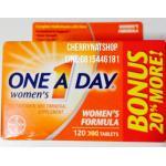 วิตามินรวมวันละเม็ดสำหรับผู้หญิง One a Day Women's One Multivitamin (Bonus Pack 120เม็ด)
