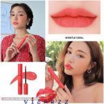 (# Gentle Coral) 3CE Velvet Lip Tint # Gentle Coral ลิควิดลิปให้ความรู้สึกเบา ไม่หนักปาก แต่ให้ลุคเป็นเนื้อแมตต์ เรียบเนียนดุจกำมะหยี่ และติดทนทั้งวัน