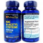 Puritan's Pride N-Acetyl Cysteine (NAC) 600 mg จำนวน 60 เม็ด สารตั้งต้นของกลูต้าไธโอน ช่วยเสริมประสิทธิภาพกลูต้า เร่งผิวขาวใส