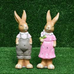 กระต่ายเซรามิคชุดชมพูเทา SALE!!! ซื้อ 1 แถม 1