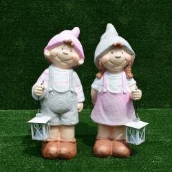 ชายหญิงหมวกแหลมถือตะเกียง SALE!!! ซื้อ 1 แถม 1