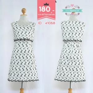 41068 (ID 3357 จองคะ) เดรสสีขาวปักลาย
