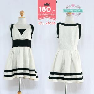 41096 (ID 3365 จองคะ) เดรสขาวดำ