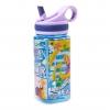 กระติกน้ำแบบหลอดดื่มสำหรับเด็ก Disney Water Bottle with Built-In Straw (Rapunzel / Blue)