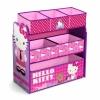 ชั้นเก็บของเล่นสำหรับลูกน้อย Delta Children Multi-Bin Toy Organizer (Hello Kitty)