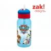 กระติกน้ำแบบหลอดดูดสำหรับเด็ก Zak! Designs 14 Oz. Water Bottle with Straw (Paw Patrol)