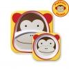 จานและชามบรรจุอาหารสุดน่ารัก Skip Hop รุ่น Zoo Melamine Set (Monkey)
