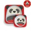 จานและชามบรรจุอาหารสุดน่ารัก Skip Hop รุ่น Zoo Melamine Set (Panda)