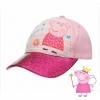 หมวกแก็ปสำหรับเด็ก Peppa Pig Pink Glitter Cap