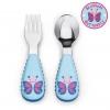 ชุดช้อนและส้อมสำหรับเด็กสุดน่ารัก Skip Hop รุ่น Zootensils Little Kids Fork & Spoon (Butterfly)