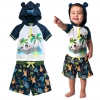ชุดว่ายน้ำป้องกันรังสียูวีสำหรับทารกและเด็กเล็ก Disney Hooded Rash Guard & Swim Trunks for Baby (The Jungle Book)