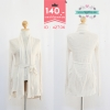 42706 size S M เสื้อคลุมสีขาว