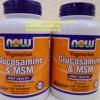 วิตามินรักษาโรคข้ออักเสบ ลดความเจ็บปวดและความรุนแรงของข้ออักเสบ ข้อเข่าเสื่อม สร้างกระดูกอ่อนที่สูญเสียไปNow Foods, Glucosamine & MSM, Vegetarian, 120 Vcaps สำหรับผู้กินเจ มังสวิรัติ