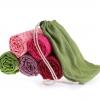 ผ้ารองโยคะ ปุ่มกันลื่น PVC ลายดอกไม้ YK7011P
