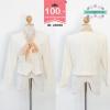43098 size36 เสื้อสูทสีขาว