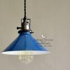 โคมไฟจานวินเทจ - น้ำเงิน