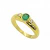แหวนพลอยโมราประดับเพชร ตัวเรือนอัลลอยด์หุ้มทองคำแท้