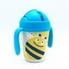 แก้วบรรจุเครื่องดื่มแบบหลอดพร้อมมือจับชนิดปลอดสารพิษ Yookidoo Natural Bamboo Fibre Straw Cup (Bees)