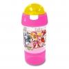 กระติกน้ำพร้อมหลอดดื่มสำหรับบรรจุเครื่องดื่มและของว่าง Sip N Snack Bottle (Paw Patrol Pink)