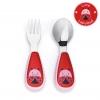ชุดช้อนและส้อมสำหรับเด็กสุดน่ารัก Skip Hop รุ่น Zootensils Little Kids Fork & Spoon (Lady Bug)