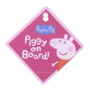ป้ายสัญลักษณ์ติดรถยนต์ Peppa Pig & George Baby on Board Sign (Peppa)