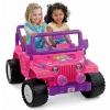 รถจี๊ปบาร์บี้พลังแรงสูงแบบ 2 ที่นั่งสำหรับลูกสาว Fisher-Price รุ่น Power Wheels Barbie Jammin' Jeep Wrangler 12-Volt Battery Powered Ride-On (Purple)