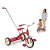 จักรยานสามล้อพร้อมด้ามผลักจูง Radio Flyer Classic Tricycle with Push Handle (Red)