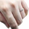 แหวนเงินแท้รูปหัวใจ ประดับแร่มาร์คาไซท์ชวารอฟสกี้