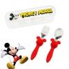 ชุดช้อนและส้อมพร้อมกล่องบรรจุสำหรับเด็ก Disney Eats Flatware Set for Kids (Mickey Mouse)