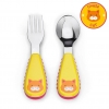 ชุดช้อนและส้อมสำหรับเด็กสุดน่ารัก Skip Hop รุ่น Zootensils Little Kids Fork & Spoon (Cat)